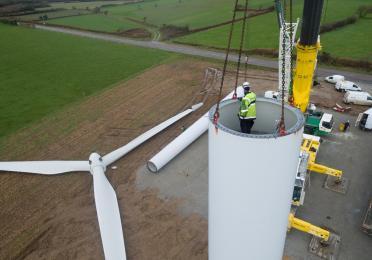 Dismantling of Goulien wind farm - Finistere