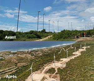 Repowering of La Montagne wind power plant (Guadeloupe)