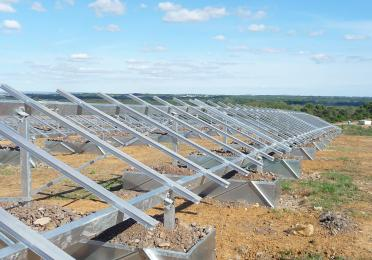 construction solar panels
