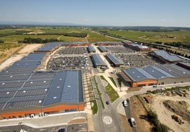 toit panneaux photovoltaics